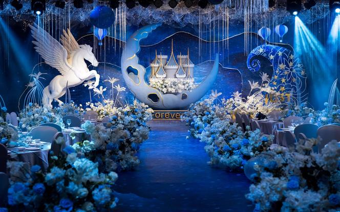 【艾慕】轻奢风 蓝色海洋 童话城堡 梦幻闪耀