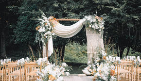 【伯妮】春日必备 清新蓝户外婚礼 小众复古婚礼