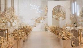 《爱的阶梯》【尚行花品】香槟色室内婚礼