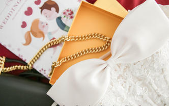【高定女神系列】高定婚纱+纯手工褂后+礼服