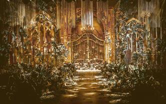 伯妮婚礼 | 大气金色宫廷婚礼 复古庄园华丽浪漫