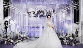 星元素婚礼·白紫色清新冰雪风·含四大