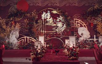 经典红色纯中式雕刻大气风婚礼