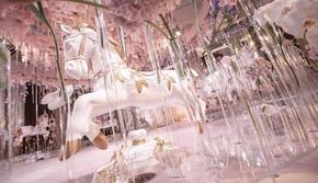 HelloKitty酒店的粉色城堡婚礼