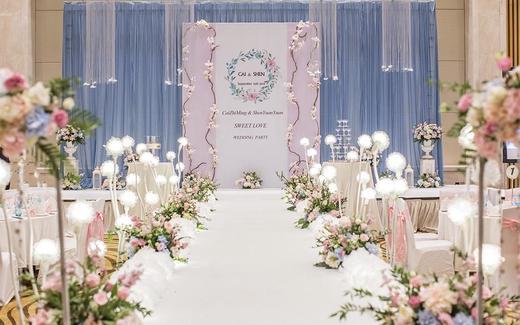 【三亚千寻】粉蓝室内清新婚礼