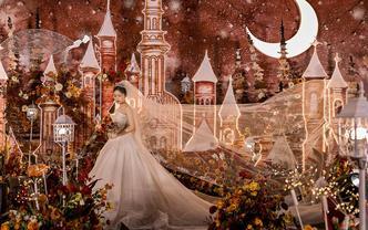 暮色 童话风城堡梦幻婚礼