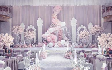 【一颗红豆】粉白色梦幻婚礼 唯美 梦幻
