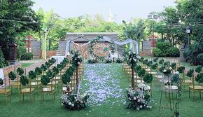 草坪户外婚礼+简约大气晚宴 #从校园到白纱 #