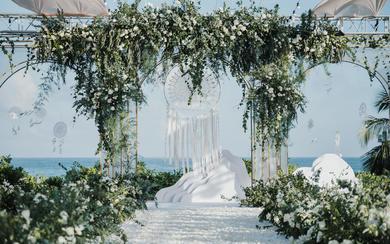 海边草坪婚礼 I 白色森系