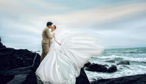 浪漫海景拍摄+水晶教堂+海天一线8服8造