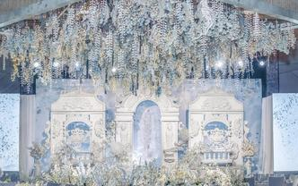 微致婚礼丨梦幻城堡风白蓝色婚礼
