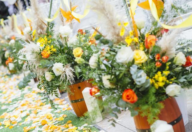 【勇于爱情】户外婚礼 黄色 复古 清新 草坪