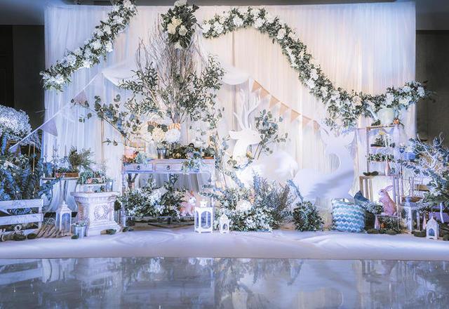 清新自然的森系婚礼森系主题场地布置个性婚礼定制