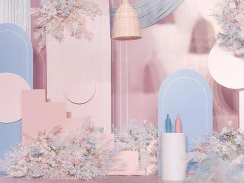 喜上婚礼 | 蓝粉色浪漫婚礼之选,含婚礼四大
