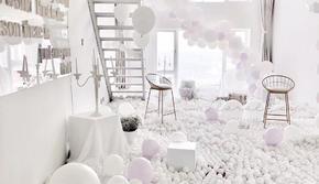 求婚气球布置