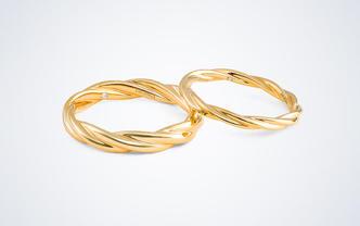 梵尼洛芙-织梦丨扭臂独钻设计款求婚结婚情侣对戒