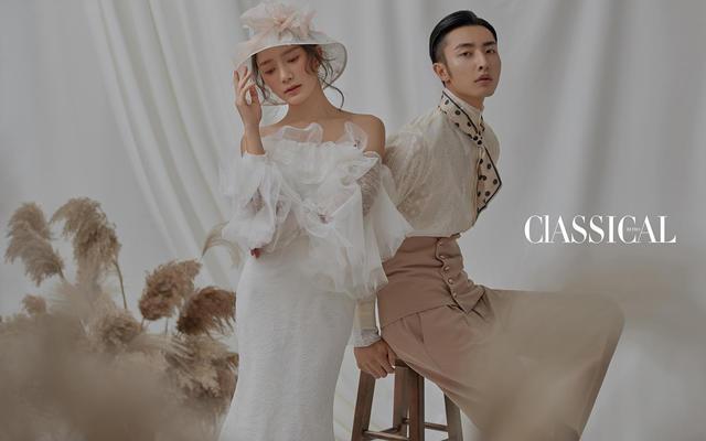 高级感爆棚的复古婚纱摄影