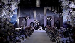 紫色创意婚礼,优雅大气,设计感满满~