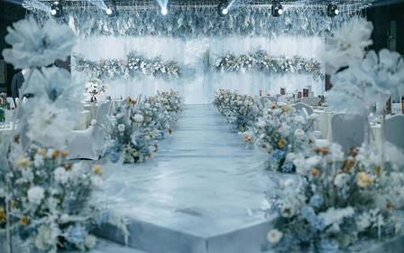 【热带猫婚礼】雾霾蓝清新礼堂婚礼