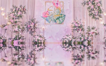 <白金小INS风>含四大和灯光音响 喜洋洋婚礼策