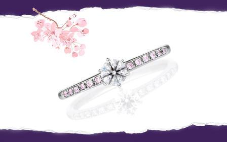 穆拉丁◆婚戒/裸钻 樱花物语|粉蓝宝戒托