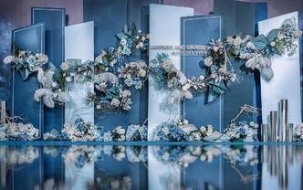 梦时光婚礼 【蓝灰轨迹】高级质感 极致简约造型婚