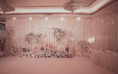 韩式唯美小清新粉红与绿色森系酒店婚礼