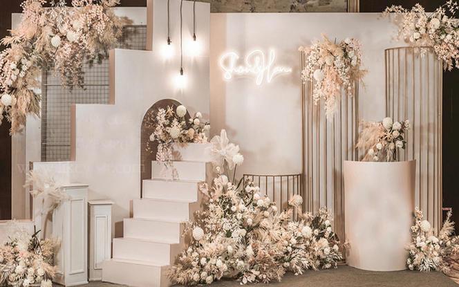 【意匠婚礼】香槟色浪漫大气含吊顶