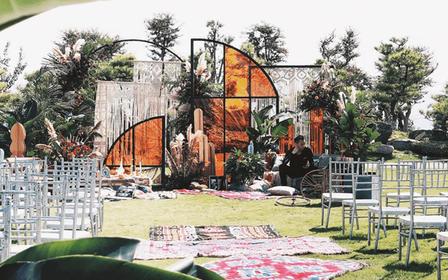 典雅 | 一场高级橙的秋系复古户外婚礼