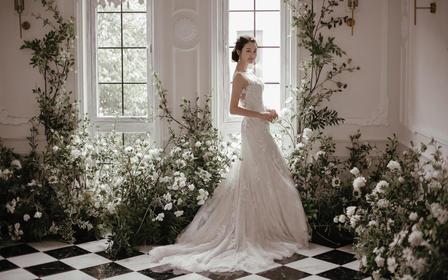 【GLADYS】法国镂空蕾丝优雅新娘首选