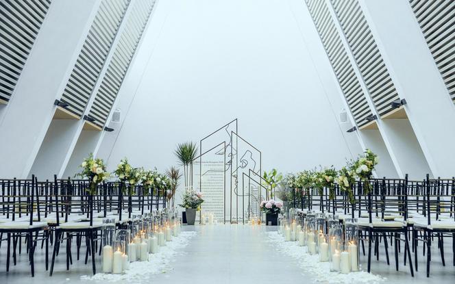 留白的艺术 欧式礼堂婚礼