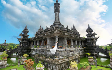 爱旅拍巴厘岛•客照欣赏•黑塔建筑博物馆•周&王