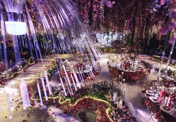 奢华 紫色  藤萝 婚礼