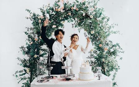 【新韩式】超大实景基地 仪式婚纱照 底片全送