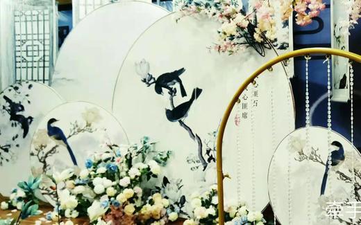 粉蓝色的新中式婚礼,不但有内涵而且还很仙气
