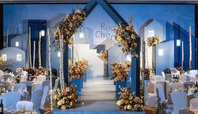 莫兰迪色系—蓝色现代婚礼