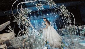 金陵饭店·水晶蓝色 花艺铁艺独特设计 梦幻吊顶
