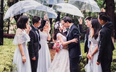【卡弗丽婚纱礼服】庄重风格拖尾教堂婚礼多风格拍摄