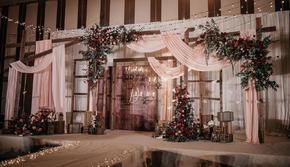 造梦者-「一路有你」木质复古风格烛光室内婚礼