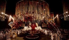 【尚壹婚礼】红金系列含吊顶 大气高级感婚礼