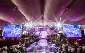 时尚大气优雅紫色魅力婚礼