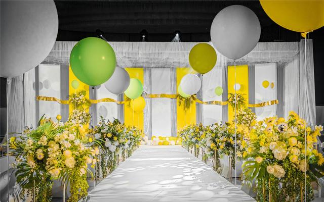 春季爆款梦幻黄白暖色系婚礼主题