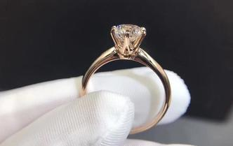 18k金钻石戒指50分D色钻石套餐经典六爪