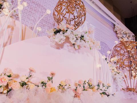 【三生婚礼】唯美梦幻香槟粉主题婚礼