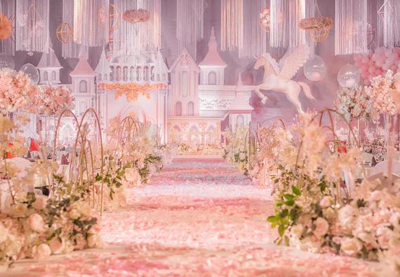 沁雅2019火爆款-粉色城堡梦幻婚礼