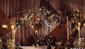 复古咖色婚礼主题布置省心套餐