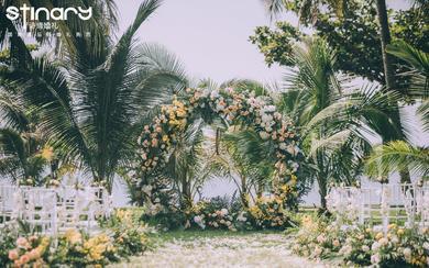 【诗缔户外婚礼作品】小清新户外草坪婚礼