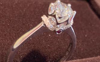 18k金钻石戒指明星款式