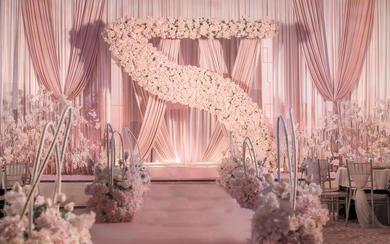 【一颗红豆】唯美粉色梦幻风婚礼 唯美
