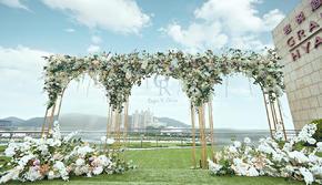 超值户外婚礼 经典白绿 高级时尚